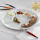 Porcelain Round Fondue Raclette Plate