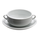 Café Collection Consommé Bowl and Saucer