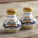 Deruta-Style Salt & Pepper Shaker Set