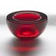 Red Glass Tealight Candleholder