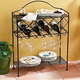 Rustic Wrought Iron Wine Rack Table