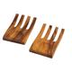Acacia-Wood Salad Collection, Salad Serving Hands, Set of 2