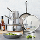 All-Clad® Stainless Steel 9-Piece Cookware Set