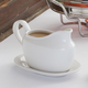 Blanc Gravy Boat with Tray, 24 oz.