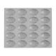 de Buyer® Elastomoule Madeleine Grid, 20 Portions