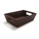 Dark Acacia Wood Box with Cutout Handles