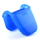 Blue Silicone Mini Mitt with Raised Nibs