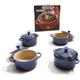 Le Creuset® Cobalt Mini Casserole, Set of 4 & Bonus Cookbook
