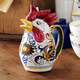 Deruta-Style Rooster Pitcher