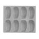 de Buyer® Elastomoule Madeleine Grids, 8 Portions