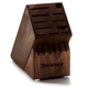 Wüsthof® 17-Slot Walnut Block