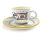 Deruta-style Espresso Cup and Saucer