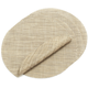 Chilewich Latte Round Basketweave Placemat