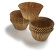 Large Brown Bake Cups, Set of 14
