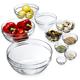 Glass Grid Bowls, Set of 10