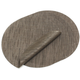 Chilewich Chocolate Round Bamboo Placemat