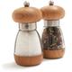 William Bounds Teak Wood Mushroom Pepper & Salt Mills