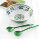 Shatter-Resistant Green Deruta-Style Salad Bowl