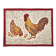 Red Rooster Block-Print Placemat