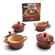 Le Creuset® Cherry Mini Casserole, Set of 4 & Bonus Cookbook