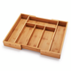 Expandable Bamboo Cutlery Tray