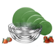 Glass Grid Bowls with Lids, Set of 15