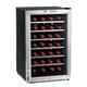 Wine Enthusiast® Stainless Steel 28-Bottle Silent Wine Refrigerator