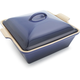 Le Creuset® Cobalt Heritage Square Covered Baker, 3 qt.