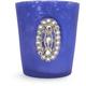 Blue Jeweled-Glass Votive Candle Holder, 3