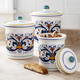 Deruta-Style Canisters, Set of 3
