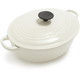 Le Creuset® White Wide Oval French Oven, 3½ qt.