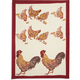Couleur Nature Red Rooster Printed Towel