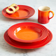 Le Creuset® Flame 16-Piece Dinnerware Set