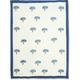 Couleur Nature Bluet Printed Towel