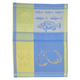 Italian Jacquard-Weave Blue Kitchen Towel