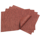 Chilewich Cranberry Rectangular Bamboo Placemat