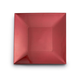 Red Metallic-Colored Square Charger, 12