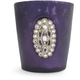 Purple Jeweled-Glass Votive Candle Holder, 3