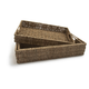 Set 3 Rectangle Seagrass Trays