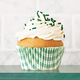 Gingham Green Cupcake Papers, Set of 40