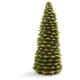 Christmas Tree Candle Green