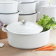 Le Creuset® White Oval French Oven, 6¾qt.