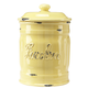 Italian Ceramic Sugar Canister, Yellow