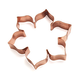 Flower-Shaped Copper Cookie Cutter