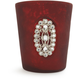 Red Jeweled-Glass Votive Candle Holder, 3