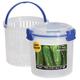 Klip It® Round Food Storage Container with Bonus Strainer