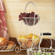 White Two-Tiered Basket Stand, 18