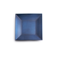 Blue Metallic-Colored Square Appetizer Plate