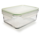 Kinetic Go Green Rectangular GlassLock Food Storage, 37 oz.