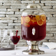 Footed Glass Beverage Jar